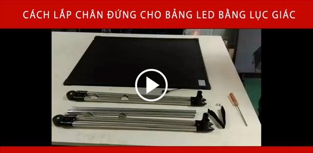 Video cách lắp chân đứng cho bảng led ốc lục giác