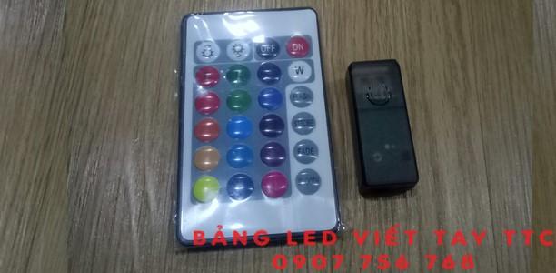 Cách sử dụng remote điều khiển các chế độ màu sắc trên bảng led viết tay TTC