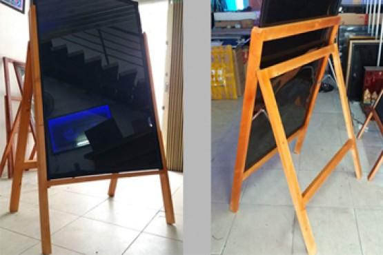 Chân gỗ tứ trụ dùng cho bảng led huỳnh quang